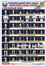 Posters JUDO. White   belt 1 poster.The technique of judo. - $15.00