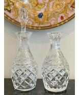 Vintage Waterford Crystal Glandore Oil and Vinegar Cruet Set Made in Ire... - $75.00
