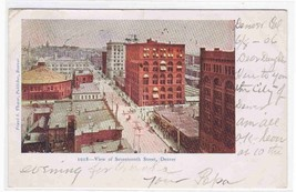 Panorama Seventeenth Street Denver Colorado 06 postcard - $4.46