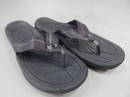 Keen Kona Flip Flop Slip On Sandals Men's Size US 9 M (D) EU 42 Gray / Silver