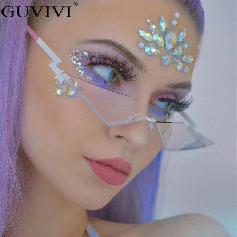 Es women rimless mirror vintage sunglasses men brand designer retro sunglasses frameless eyewear