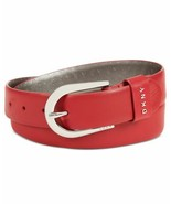 Dkny Belt With Metal Logo Letters (Red, S) - $39.90