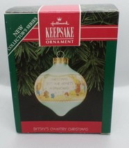 1992 Hallmark Betsey's Country Christmas Glass Shaped Ornament Clark In Box - $8.00