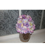 BABY GIRL PURPLE AND PINK FLOWER PHOTO PROP HAT - $20.00