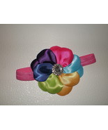 BABY GIRL TO ADULT HEADBAND WITH A RAINBOW OF COLORS PHOTO PROP - $11.06