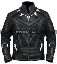 Black Panther Avengers Infinity War T'Challa (Chadwick Boseman) Black Leather Co image 5