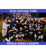 2016 CHICAGO CUBS 8X10 TEAM PHOTO BASEBALL MLB PICTURE WORLD SERIES CHAMPS - $3.95
