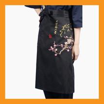 cherry blossoms sushi chef apron restaurant bar uniform waist embroidery men - $17.00