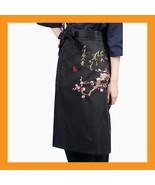 cherry blossoms sushi chef apron restaurant bar uniform waist embroidery... - $17.00