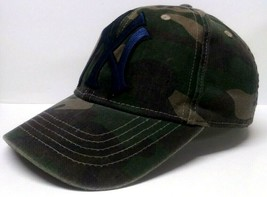 NEW YORK YANKEES FATIGUE CAMO HAT MEN'S ONE-SIZE HAT MADE BY TIME AND TRU - $12.86