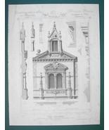 ARCHITECTURE PRINT : PARIS Victorian Mansion at St. Maur Partial Garden ... - $16.87