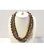 Vintage necklace 5 strand signed Joan Rivers - $15.00
