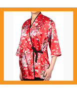 red kimono chef coat Japanese catering uniform jacket sushi restaurant 4... - $23.50