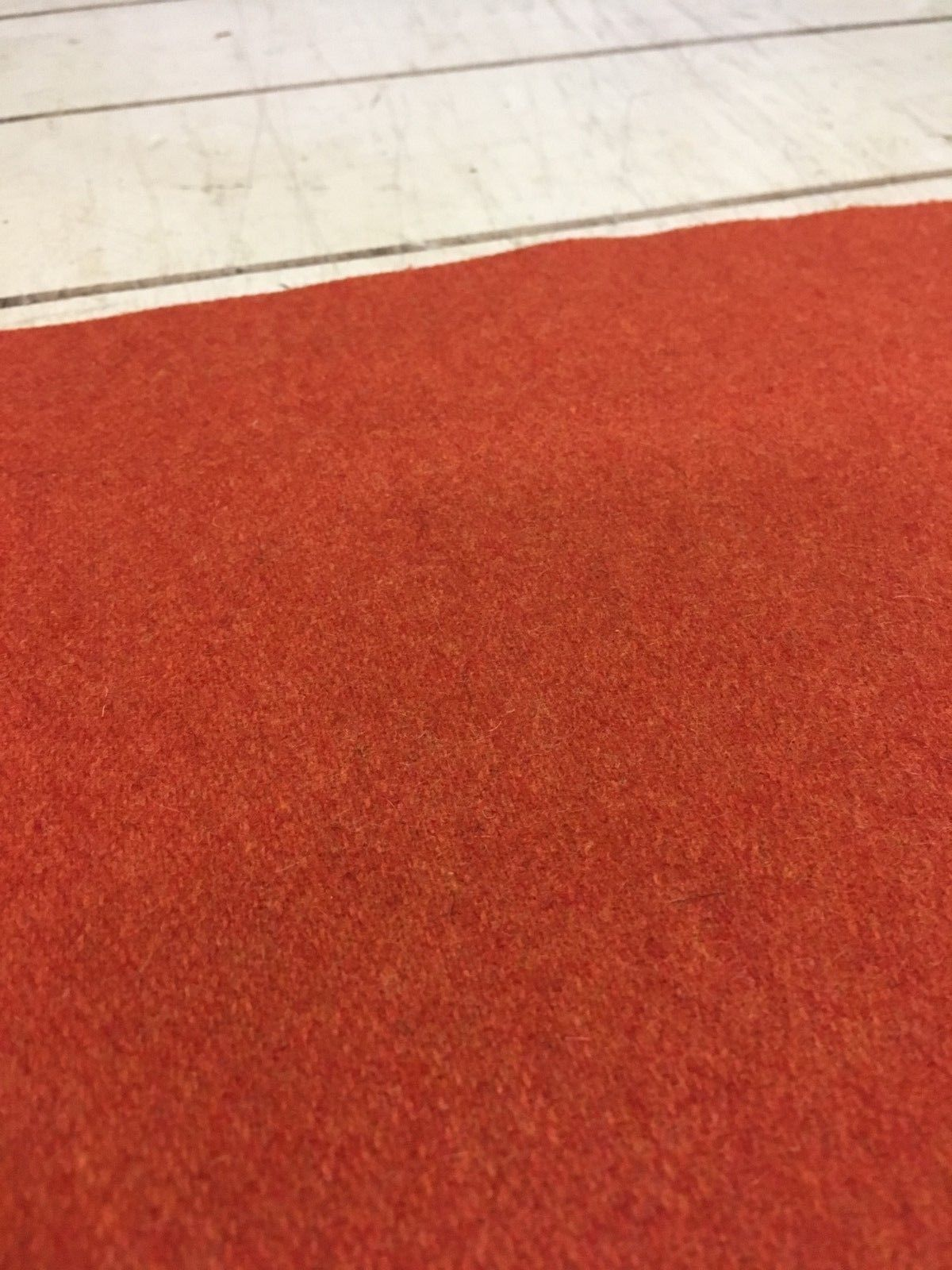 Mid Century Upholstery Fabric Red Twill Wool 4.875 yds HE