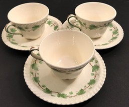 Harker Ivy 3 Coffee Cups & Saucers  - $28.84