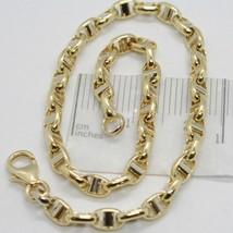 Armband Gelbgold und Weiß 18K 750 Gestrickt Steg Made in Italy - $388.99