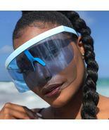 LongKeeper Women Oversize Shield Visor Sunglasses Men UV400 Flat Top Sol... - $79.92