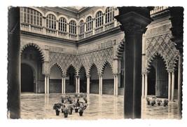 Spain Seville Royal Moorish Castle Women Courtyard Postcard Heliotipia A... - $3.99