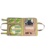 SPRINGTIME WRAP TRAVELING PICNIC WRAP FOR TWO (2) FLATWARE SET - £19.53 GBP