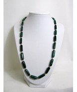 Malachite Tube and Copper Bead Necklace RKMixables Copper Collection RKM329 - $50.00