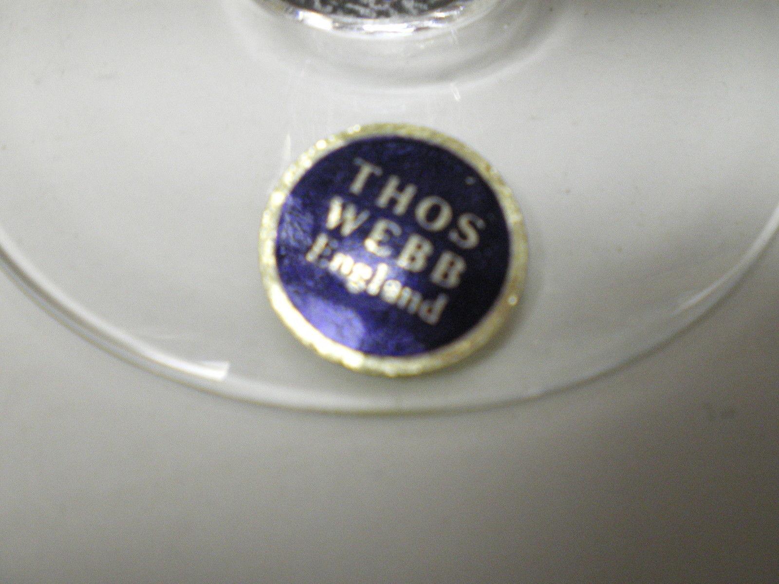 """THOMAS WEBB ENGLAND """"MAYFLOWER 70"""" GOBLET~~~"""