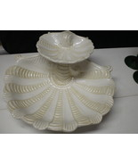 VINTAGE OLD LENOX SEA SHELL APPETIZER CHIP & DIP BOWL~~really old one~~A... - $34.99