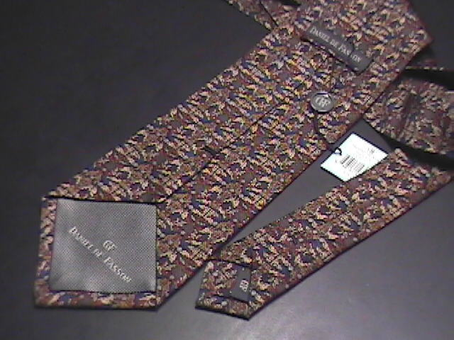 Daniel De Fasson Silk Hand Made Neck Tie Browns Unused with Tags Attached