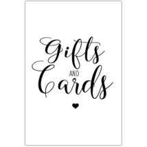 Simple Wedding Ceremony Cards and Gifts Sign Poster - $11.39