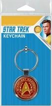 Star Trek TOS Starfleet Academy Command Logo Round Metal Key Chain NEW U... - $4.99