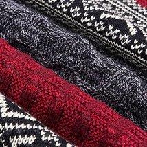 Teen Boys Mens Contrast Color Long Scarves Winter Warm Cozy Leisure Mufflers Nec image 5