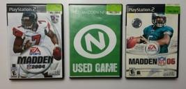 Madden PS2 Game Bundle (See Description For Titles) Playstation 2 - $18.69