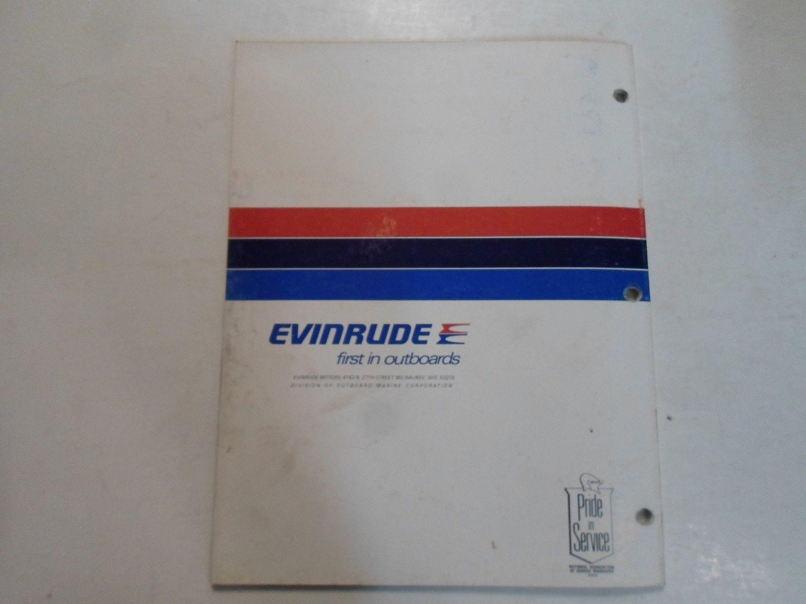 1977 Evinrude Service Shop Repair Manual Electric EB 52 54 82 84 OEM Boat WORN image 12