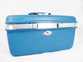ROYAL TRAVELLER MONTBELLO Blue Makeup Train Overnight Travel Hardcase - $19.79