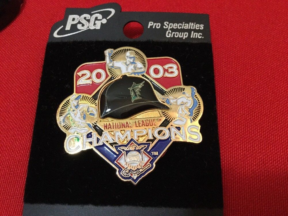 Florida Marlins 2003 MLB Baseball National League Champions pin Pro Specialties