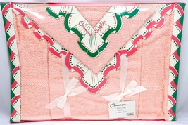 VTG 1950's 3 PC MIB Cannon Towel Set Cannons Ruffle Pink Terry Cloth GLA... - $86.45