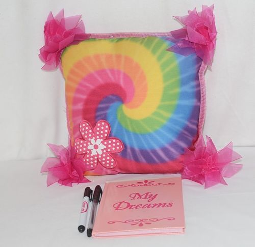 Molly N Me Small Hot Pink Rainbow Flower Throw Pillow My Dreams Journal