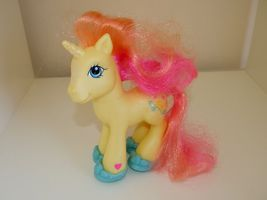 My Little Pony Brights Brightly Yellow Sun Wave Turquoise Shoes Unicorn ... - $9.95