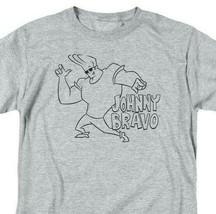 Johnny Bravo T-shirt cartoon network Retro 90's heather gray graphic tee CN465 image 2
