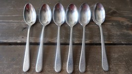 "Vintage 5.5"" Albert Pick and Company Hammered Silverplate Teaspoons - $19.79"