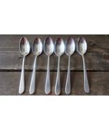 "Vintage 5.5"" Albert Pick and Company Hammered Silverplate Teaspoons - $19.79"