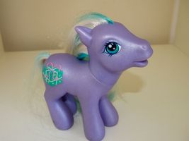 My Little Pony Razzaroo 2002 Birthday Celebration Present Gift Purple Aq... - $9.95