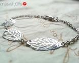 Silver tiny leaves bracelet silver filigree leaf 4 thumb155 crop