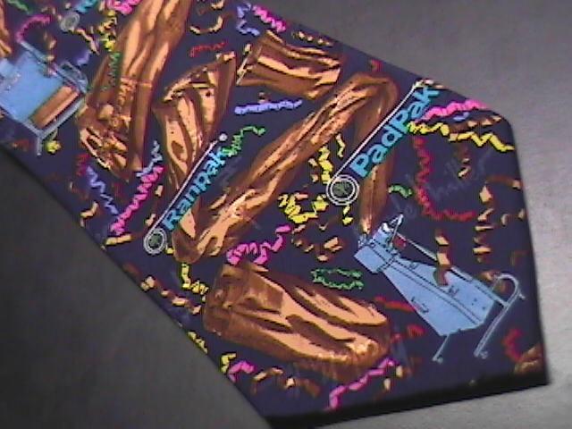 Nicole Miller Neck Tie Ranpak PadPak 1996 Blue Confetti Specialized Machines