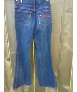 Star Blue girls jeans size 10 pink Embroidered pocket Princess - $9.85
