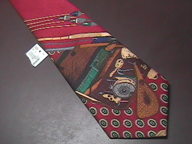 American Angler Dress Neck Tie New and Unworn with Fishing Motif