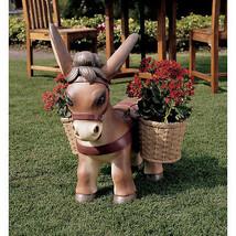 Diego the Donkey Designer Flower Pot Basket Planters Yard Garden Animal ... - $243.49