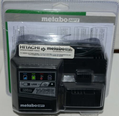 Metabo HPT UC18YSL3 Corded Lithium Ion 14.4V 18V Battery Charger Only