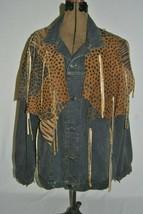 Vintage SPORT DECO 80's 100% Cotton Denim Jean Jacket Embellished  (9) - $130.00