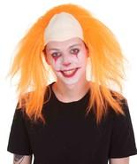 Half Bald Head Funny Men Wig, Neon Orange HM-1193 - $29.85