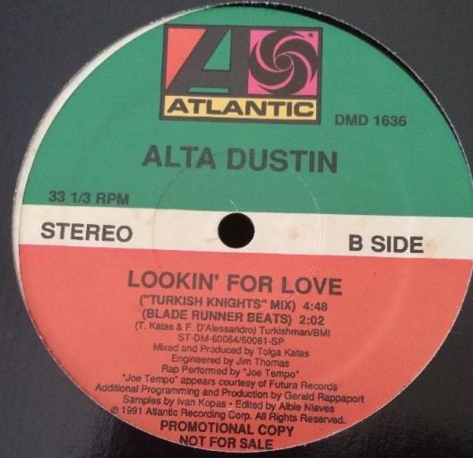 "Alta Dustin - Lookin' For Love - Atlantic Records DMD 1636 - 12"" Single"
